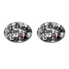 Frida Kahlo Pattern Cufflinks (oval)