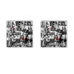 Frida Kahlo Pattern Cufflinks (square)