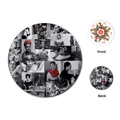 Frida Kahlo Pattern Playing Cards (round)