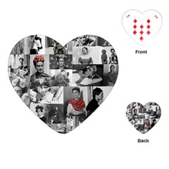 Frida Kahlo Pattern Playing Cards (heart)