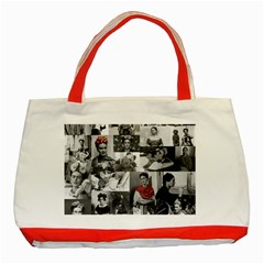 Frida Kahlo Pattern Classic Tote Bag (red)
