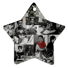 Frida Kahlo Pattern Star Ornament (two Sides)