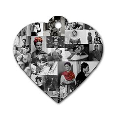 Frida Kahlo Pattern Dog Tag Heart (one Side)