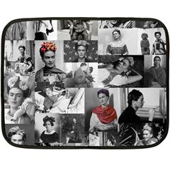 Frida Kahlo Pattern Fleece Blanket (mini)