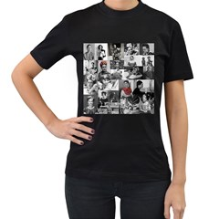 Frida Kahlo Pattern Women s T Shirt (black)