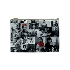 Frida Kahlo Pattern Cosmetic Bag (medium)