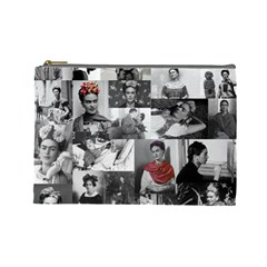 Frida Kahlo Pattern Cosmetic Bag (large)
