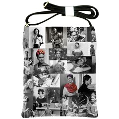 Frida Kahlo Pattern Shoulder Sling Bags
