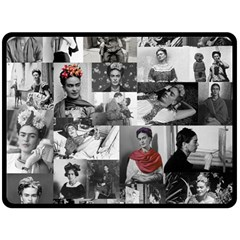 Frida Kahlo Pattern Fleece Blanket (large)