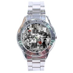 Frida Kahlo Pattern Stainless Steel Analogue Watch