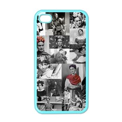 Frida Kahlo Pattern Apple Iphone 4 Case (color)