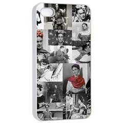 Frida Kahlo Pattern Apple Iphone 4/4s Seamless Case (white)