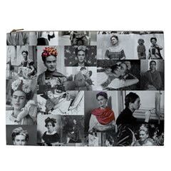Frida Kahlo Pattern Cosmetic Bag (xxl)