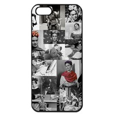 Frida Kahlo Pattern Apple Iphone 5 Seamless Case (black)