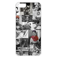 Frida Kahlo Pattern Apple Iphone 5 Seamless Case (white)