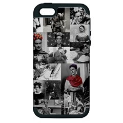 Frida Kahlo Pattern Apple Iphone 5 Hardshell Case (pc+silicone)