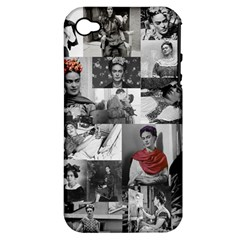 Frida Kahlo Pattern Apple Iphone 4/4s Hardshell Case (pc+silicone)