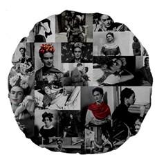 Frida Kahlo Pattern Large 18  Premium Round Cushions