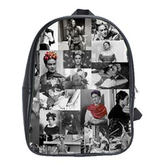Frida Kahlo Pattern School Bag (xl)