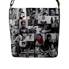 Frida Kahlo Pattern Flap Messenger Bag (l)