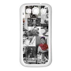 Frida Kahlo Pattern Samsung Galaxy S3 Back Case (white)