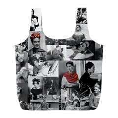 Frida Kahlo Pattern Full Print Recycle Bags (l)