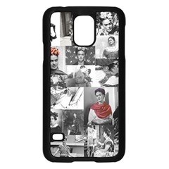 Frida Kahlo Pattern Samsung Galaxy S5 Case (black)