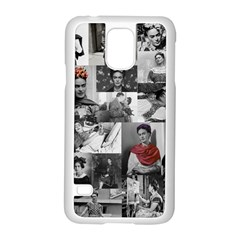 Frida Kahlo Pattern Samsung Galaxy S5 Case (white)