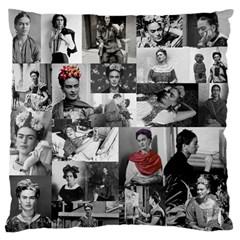 Frida Kahlo Pattern Large Flano Cushion Case (one Side)