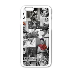 Frida Kahlo Pattern Apple Iphone 6/6s White Enamel Case