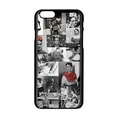 Frida Kahlo Pattern Apple Iphone 6/6s Black Enamel Case