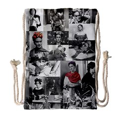 Frida Kahlo Pattern Drawstring Bag (large)