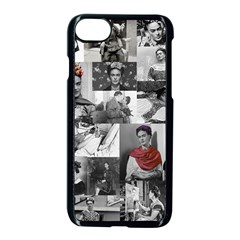 Frida Kahlo Pattern Apple Iphone 7 Seamless Case (black)