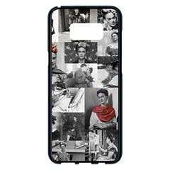 Frida Kahlo Pattern Samsung Galaxy S8 Plus Black Seamless Case