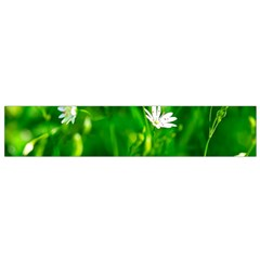 Inside The Grass Small Flano Scarf by FunnyCow