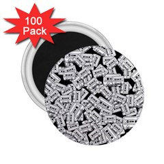 Audio Tape Pattern 2 25  Magnets (100 Pack)
