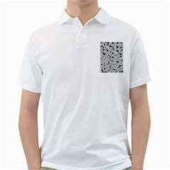 Audio Tape Pattern Golf Shirts