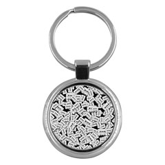 Audio Tape Pattern Key Chains (round)