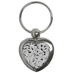 Audio Tape Pattern Key Chains (heart)