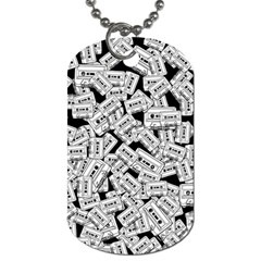 Audio Tape Pattern Dog Tag (one Side)