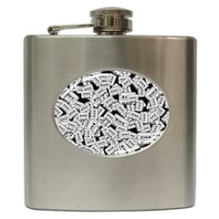 Audio Tape Pattern Hip Flask (6 Oz)