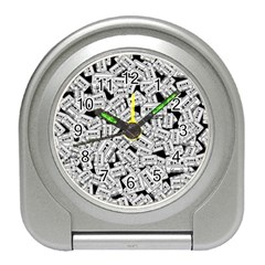 Audio Tape Pattern Travel Alarm Clocks