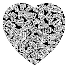 Audio Tape Pattern Jigsaw Puzzle (heart)