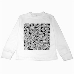 Audio Tape Pattern Kids Long Sleeve T Shirts
