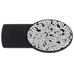 Audio Tape Pattern Usb Flash Drive Oval (4 Gb)