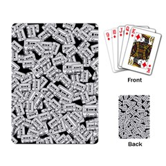 Audio Tape Pattern Playing Card