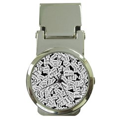 Audio Tape Pattern Money Clip Watches