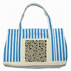 Audio Tape Pattern Striped Blue Tote Bag