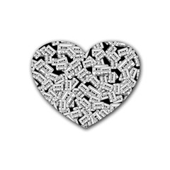 Audio Tape Pattern Heart Coaster (4 Pack)