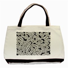 Audio Tape Pattern Basic Tote Bag (two Sides)
